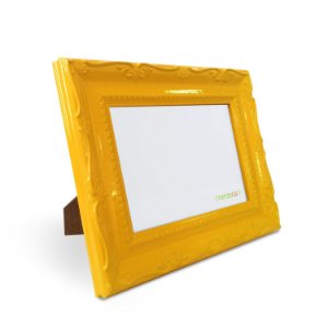 Porta Retrato 10x15 cm Nerderia e Lojaria Retro amarelo retro amarelo