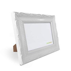 Porta Retrato 10x15 cm Nerderia e Lojaria Retro branco branco