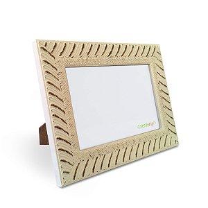 porta Retrato 15x21 cm Nerderia e Lojaria africano diagonal madeira