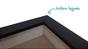 Quadro Caixa Porta Foto e Recadinho com Varal 23x33cm rosas preto