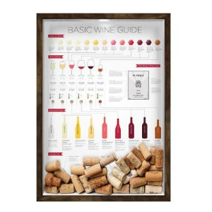 QUADRO 33X43  PORTA ROLHA DE VINHO Nerderia e Lojaria vinho wine guide madeira