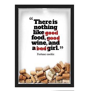 QUADRO CAIXA 33X43 cm  PORTA ROLHA VINHO NERDERIA E LOJARIA vinho good wine preto