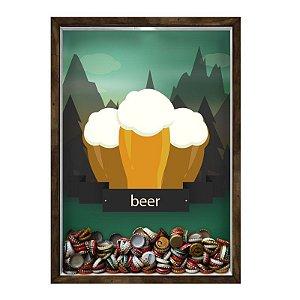 QUADRO 33X43  PORTA TAMPINHA CERVEJA Nerderia e Lojaria cerveja beer mountains madeira