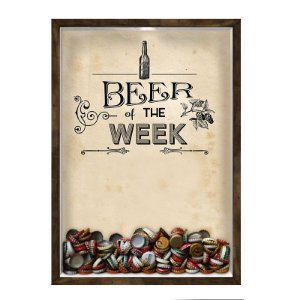 QUADRO 33X43  PORTA TAMPINHA CERVEJA Nerderia e Lojaria cerveja beer of the week madeira