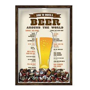 QUADRO 33X43  PORTA TAMPINHA CERVEJA Nerderia e Lojaria cerveja how to order a beer madeira