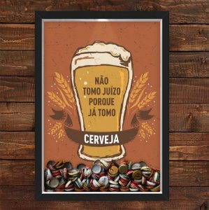 QUADRO CAIXA 33X43 cm PORTA TAMPINHA CERVEJA NERDERIA E LOJARIA cerveja juizo preto