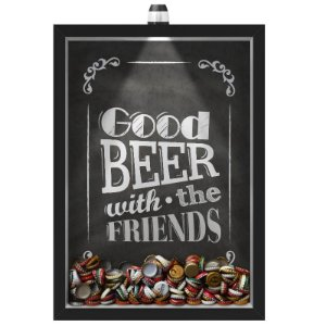 Quadro Caixa  COFRE 33x43 cm (Com Led) Lojaria e Nerderia. led good friends black preto