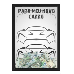 Quadro CAIXA COFRE 33x43 cm NERDERIA E LOJARIA car10 preto