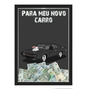 Quadro CAIXA COFRE 33x43 cm NERDERIA E LOJARIA car15 preto