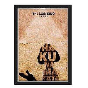QUADRO CAIXA 33X43  NERDERIA E LOJARIA lion king 01 preto