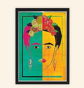 Quadro Caixa Decorativo 23x33cm Nerderia e Lojaria frida brasil preto