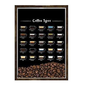 Quadro Caixa 23x33 Nerderia e Lojaria graos tipo cafe preto