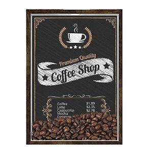Quadro Caixa 23x33 Nerderia e Lojaria graos cafe shop preto