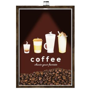 Quadro Caixa Porta GRÃOS DE CAFÉ  (Com Led) 23x33 cm Nerderia e Lojaria graos cafe chose preto