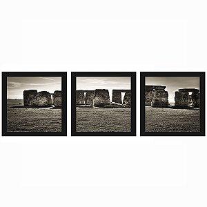 Quadro 23x23 (3 und.) Nerderia Lojaria Stonehenge preto