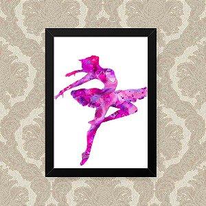Quadro Decorativo 23x33cm Nerderia e Lojaria ballet pink misturado preto