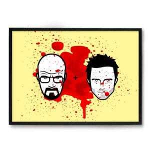 Quadro Decorativo 23x33cm Nerderia e Lojaria breaking bad preto