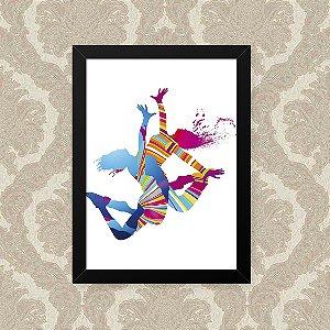 Quadro Decorativo 23x33cm Nerderia e Lojaria dancing duo preto
