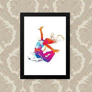 Quadro Decorativo 23x33cm Nerderia e Lojaria dancing splash preto