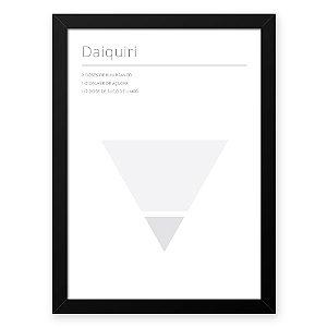 Quadro Decorativo 23x33cm Nerderia e Lojaria drinks daiquiri branco
