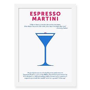 Quadro Decorativo 23x33cm Nerderia e Lojaria drinks espresso martini preto