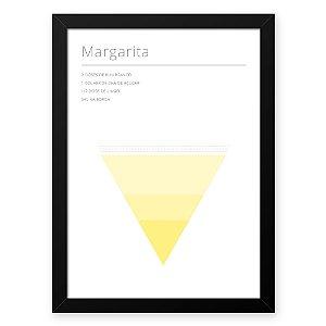 Quadro Decorativo 23x33cm Nerderia e Lojaria drinks margarita branco