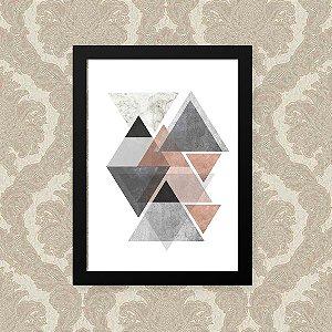 Quadro Decorativo 23x33cm Nerderia e Lojaria geometrico triangulo preto