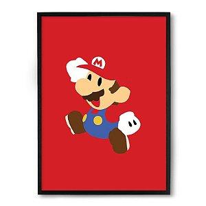 Quadro Decorativo 23x33cm Nerderia e Lojaria Mario minimalista preto