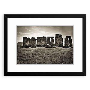 Quadro Decorativo 33x43cm Nerderia e Lojaria  Stonehenge preto