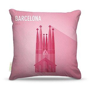 Almofada 45 x 45cm  Nerderia e Lojaria barcelona vetor colorido