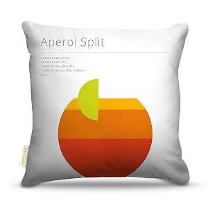 Almofada 45 x 45cm  Nerderia e Lojaria bebida aperol split colorido