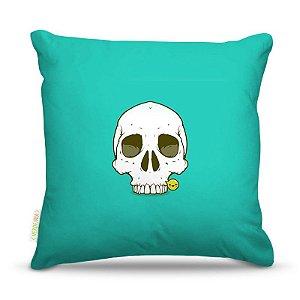 Almofada 45 x 45cm  Nerderia e Lojaria cartoon skull colorido