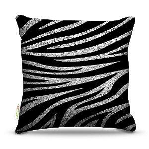 Almofada 45 x 45cm  Nerderia e Lojaria zebra grunge colorido