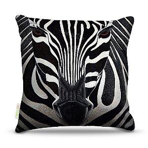 Almofada 45 x 45cm  Nerderia e Lojaria zebra colorido