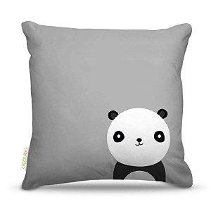 Almofada 45 x 45cm  Nerderia e Lojaria panda colorido