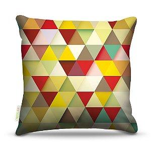 Almofada 45 x 45cm  Nerderia e Lojaria triangles amarelo colorido