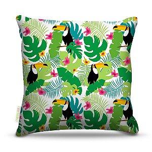 Almofada 45 x 45cm  Nerderia e Lojaria tucano selvagem colorido