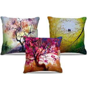 Combo de almofadas 45 x 45 cm (3und.) Nerderia e Lojaria natureza pintura colorido