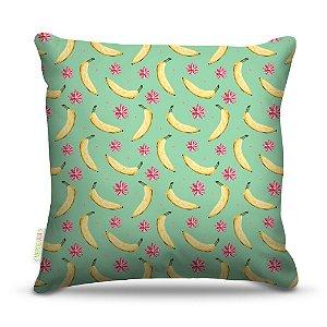 Almofada 40 x 40cm Nerderia e Lojaria bananas colorido