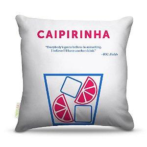 Almofada 40 x 40cm Nerderia e Lojaria bebidas vetor caipirinha colorido