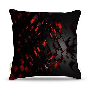 Almofada 40 x 40cm Nerderia e Lojaria bloco preto vermelho colorido