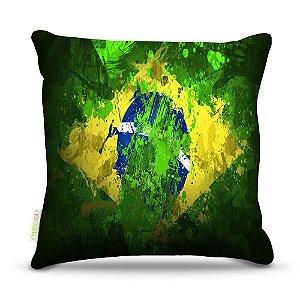 Almofada 40 x 40cm Nerderia e Lojaria brasil aquarela colorido