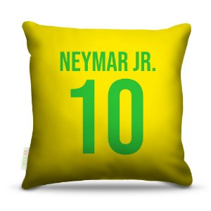 Almofada 40 x 40cm Nerderia e Lojaria brasil camisa 10 colorido