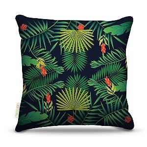 Almofada 40 x 40cm Nerderia e Lojaria palmeiras tropicais colorido
