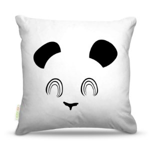 Almofada 40 x 40cm Nerderia e Lojaria panda minimalista colorido