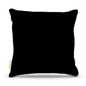 Almofada 40 x 40cm Nerderia e Lojaria preto colorido