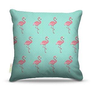Almofada 40 x 40cm Nerderia e Lojaria textura flamingo colorido