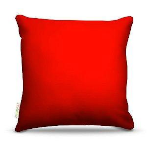 Almofada 40 x 40cm Nerderia e Lojaria vermelho colorido