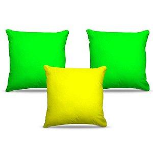 Combo de almofadas 40 x 40 cm (3und.) Nerderia e Lojaria brasi colorido