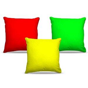 Combo de almofadas 40 x 40 cm (3und.) Nerderia e Lojaria claras colorido